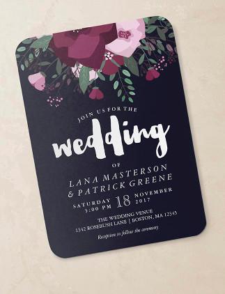 Florale Hochzeitseinladungen