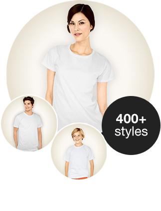 Wähle aus 126 Grundschnitten und vielen Farben. Bedrucke Shirts mit Deinem Foto, Design und Text