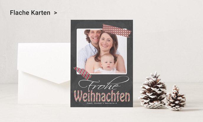 Flache Weihnachtskarten auf Zazzle Österreich