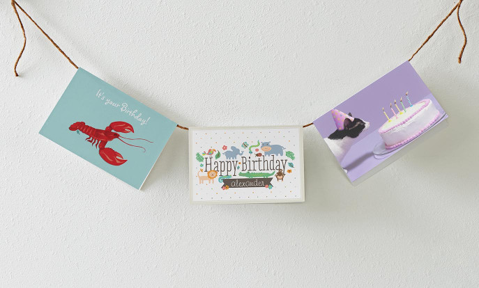 Zauberhafte Geburtstagskarten