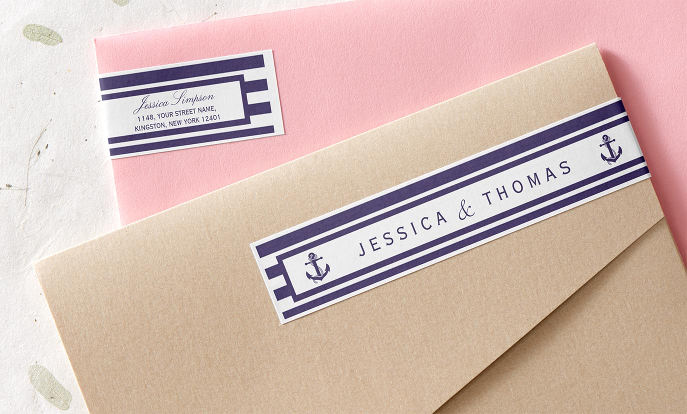 Briefaufkleber