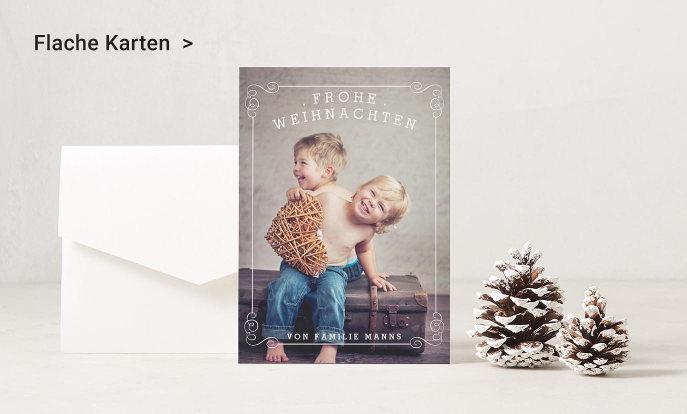 Flache Weihnachtskarten von Zazzle