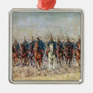 Swansong der Hussars, 1931 Quadratisches Silberfarbenes Ornament