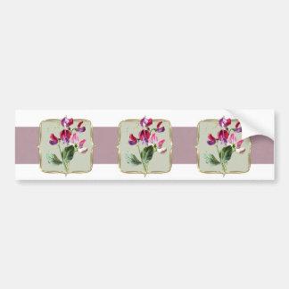Sweetpea Vintage Blumen breit Autoaufkleber