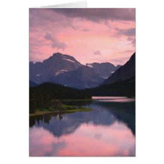 Swiftcurrent See, Glacier Nationalpark, Montana Karte