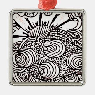 swirlysun silbernes ornament