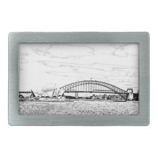 Sydney-Skyline Rechteckige Gürtelschnallen
