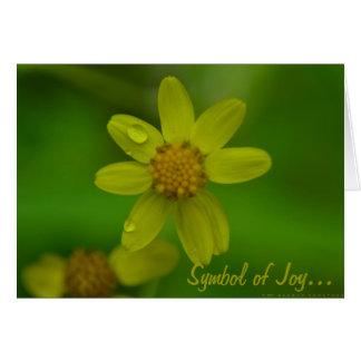 Symbol der Freude… Mitteilungskarte