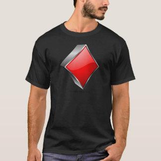 Symbol des Pokers 3D mit Schatten T-Shirt