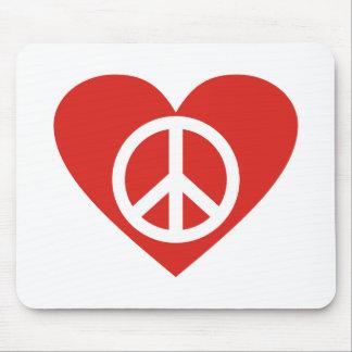 Symbol Friedenssymbol Herz peace heart Mauspad