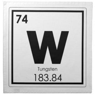 Symbolchemieformel des Wolframchemischen Elements Serviette