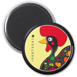 Symbole von Portugal - Hahn Runder Magnet 5,7 Cm