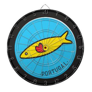 Symbole von Portugal - Sardine Nr. 02 Dartscheibe