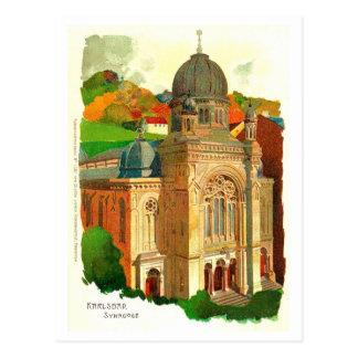 Synagoge Karlovy Varys (Karlsbad) Postkarte