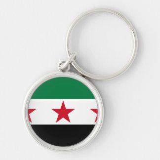 Syrien-Opposition Silberfarbener Runder Schlüsselanhänger