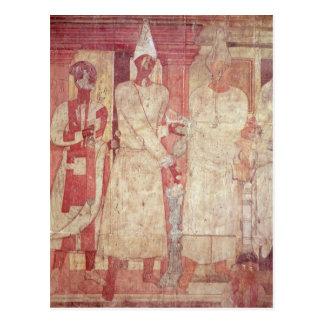 Szene eines Opfers durch Conon und seine Familie Postkarten