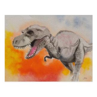 T-rex 1 postkarte