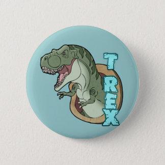 T-Rex Felsen Runder Button 5,7 Cm