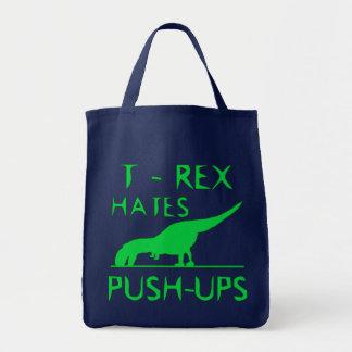 T REX HASST PUSHUPS lustigen Dino-Entwurf Tragetasche