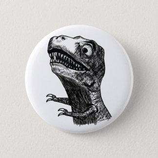 T-Rex Raserei Meme - Pinback Knopf Runder Button 5,7 Cm