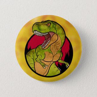 T-Rex Rothintergrund Runder Button 5,7 Cm