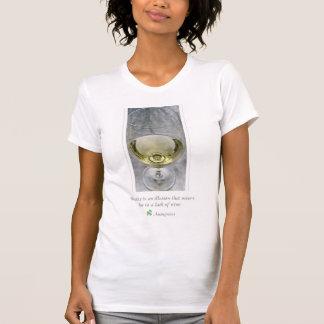 T - Shirt des weißen Weins