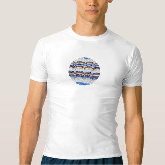 T - Shirt die Kompression der Männer mit blauem
