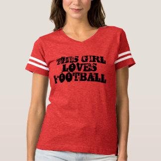 """T - Shirt """"dieses Mädchen-Liebe-Fußballs"""""""