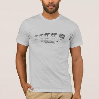 T-Shirt Entwicklung des Pferdes