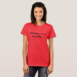 T-shirt Frau kündigt von Schwangerschaft an