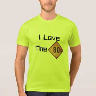T - Shirt: I Liebe der 80er. Neon-Gelb T-shirt