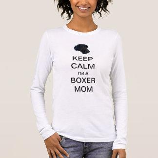 T-SHIRT KEEP CALM I' M A BOXER MOM