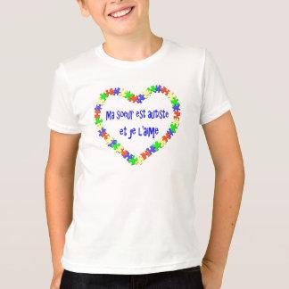 T - Shirt-MA soeur est autiste und je l'aime T-Shirt