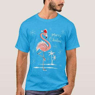 T - Shirtmänner der Weihnachtsflamingo-frohen T-Shirt