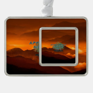 T-STÜCK appalachischer Gebirgsfrau Rahmen-Ornament Silber