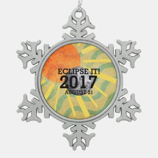 T-STÜCK Eklipse es 2017 Schneeflocken Zinn-Ornament
