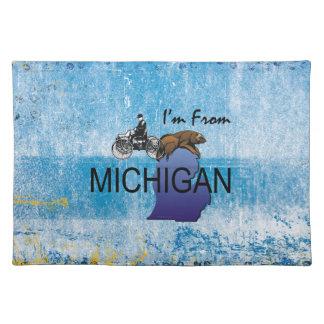 T-STÜCK komme ich aus Michigan Stofftischset