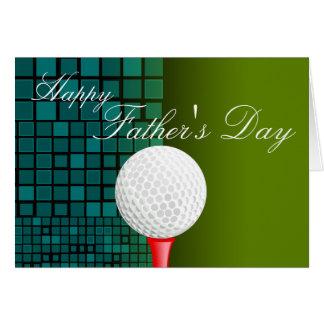 T-Stück weg mit der Vatertags-Karten-Golf Karte