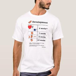 Tabelle der fötalen Entwicklung (schwarzer Druck) T-Shirt