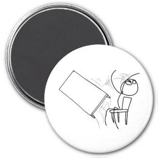 Tabelle drehen das Umdrehen des Raserei-Gesichtes  Kühlschrankmagnete