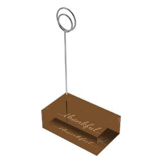 Tabellen-Kartenhalter des Erntedanks dankbarer Tischkartenhalter
