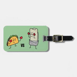 Taco gegen Burrito Kofferanhänger