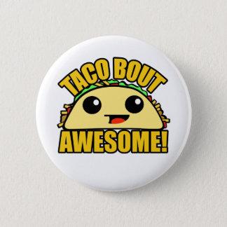 Taco-Kampf fantastisch Runder Button 5,7 Cm