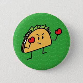 Taco-Kämpfer-Boxertortilla-Muschelhandschuhe Runder Button 5,7 Cm
