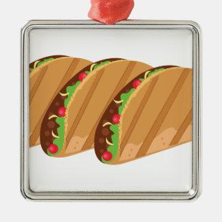 Tacos Silbernes Ornament
