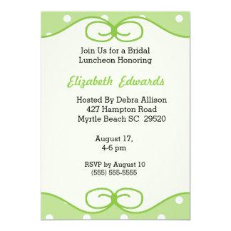 Tadellose grüne Brautmittagessen-Einladung 12,7 X 17,8 Cm Einladungskarte