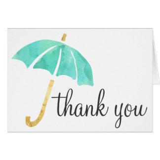 Tadellose Regenschirm-Babyparty danken Ihnen Karte