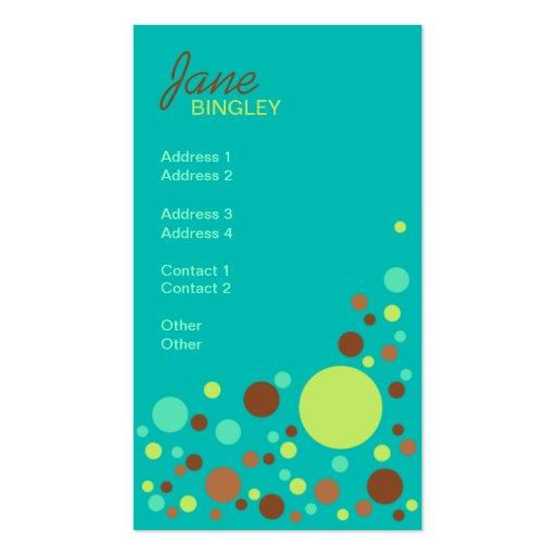 Tadellose Schokoladen-Retro Punkte Visitenkartenvorlage