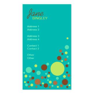 Tadellose Schokoladen-Retro Punkte Visitenkarten