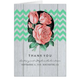 Tadellose und rosa Hochzeit danken Ihnen Karten